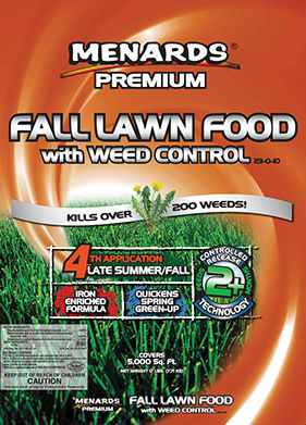 Menards Premium Fall Lawn Food With Weed Control